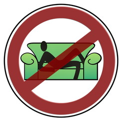 Faulenzen verboten