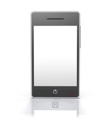 Touch Screen Mobile Phone Device [Front] with Clipping Path
