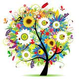 Fototapety Floral tree beautiful