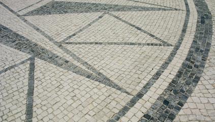 Detail of a portuguese pavement