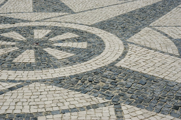 Detail of a portuguese pavement