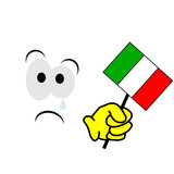 italia fuori dai mondiali poster