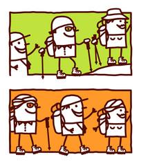 trekking in the mountain or desert