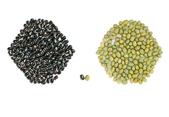 Two type of asian mung beans (mash) for yoga meal