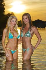 Bikini Models at Sunset