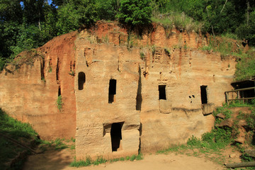 Chamber tombs excavated in the rock, Baratti,Tuscany - Italy