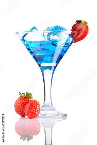 Blue Curacao cocktail.