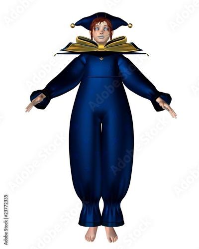 Pierrot Clown Doll. Pierrot Clown Doll - Blue Stars © Algol #23772335. Pierrot Clown Doll - Blue Stars