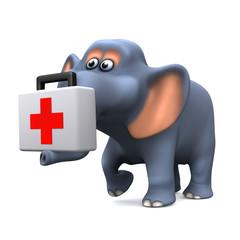 3d Elephant first aid