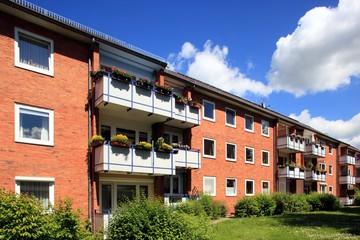 Wohnhaus, Hausfassade, Mietswohnungen, Deutschland