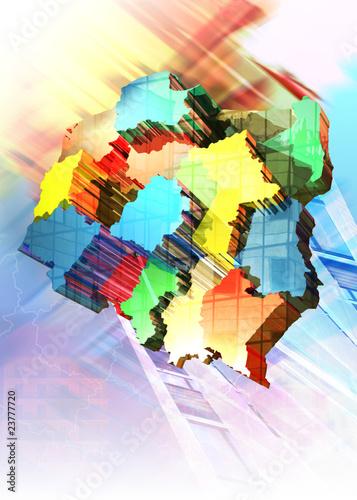 Mapa polski 3D