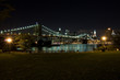Brooklyn Bridge and Manhattan at night, New York