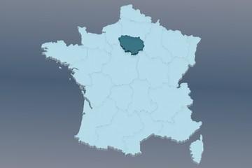 région île-de-france sur france 3d