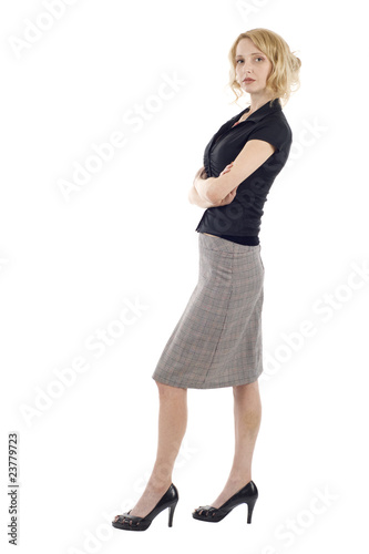 Busines woman standing