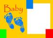 Klapp-Karte - Baby - Endformat A5 mit 3mm Beschnitt