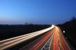 Autobahn Nachtaufnahme