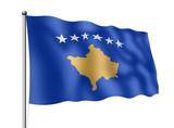 Kosovo-Flagge poster