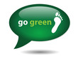 GO GREEN Speech Bubble Icon (recycling eco environment organic)