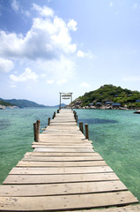 Beautiful pier in Thailand