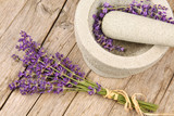 Fototapety Mortar and lavender