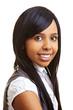 Zufriedene junge Afrikanerin