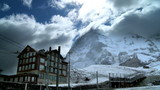 T/lapse Clouds over Swiss Mountain Resort