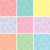 Fototapety Nine Polka Dot Patterns