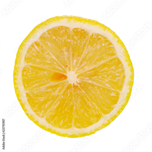 half of lemon isolated