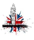 Fototapety Royaume-Uni Big Ben drapeau