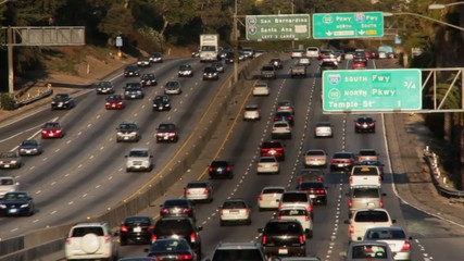 Los Angeles Rush Hour Timelapse - Heavy Traffic