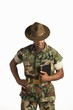A Military Man Holding A Bible