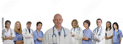 Medical banner of diverse Hospital staff
