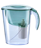 Jug with the water-purifying filter poster