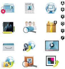 Vector social media icons set. Part 3