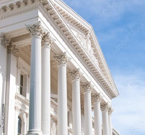 California Capital Building Pillars