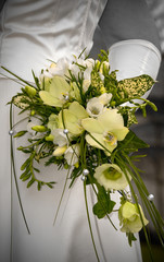 wedding flowers on the hand