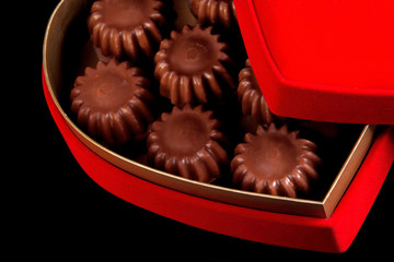 close up shot of chocolates in a box