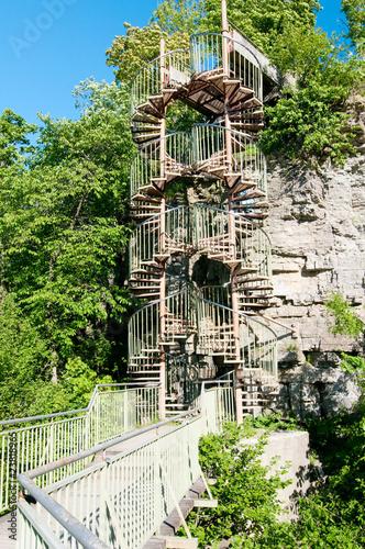 Fotobehang Vuurtoren / Mill Two spiral staircases