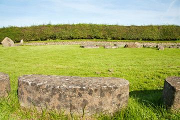 UNESCO Heritage - circle of stones at Newgrange