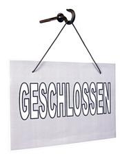 geschlossen sign