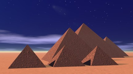 Pyramids by night
