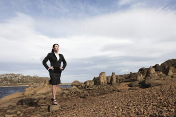 Confident businesswoman outdoors