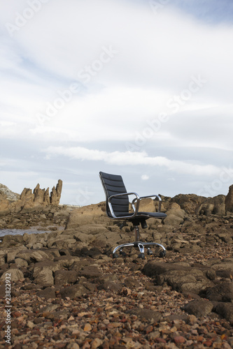 Chair on the rocks