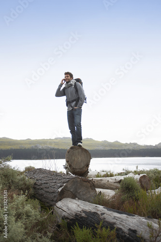 Man speaking on a phone