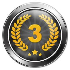 button 3. platz, dritter, bronze