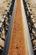 Tagebau-Transportband & Geröll, hochkant