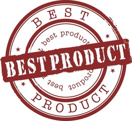 best product stamp with red ink. Isolated