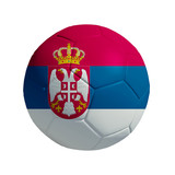 3D Ball withi Serbia Flag