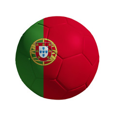 3D Ball withi Portugal Flag