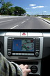 Exclusive car, windscreen, dashboard with gps panel